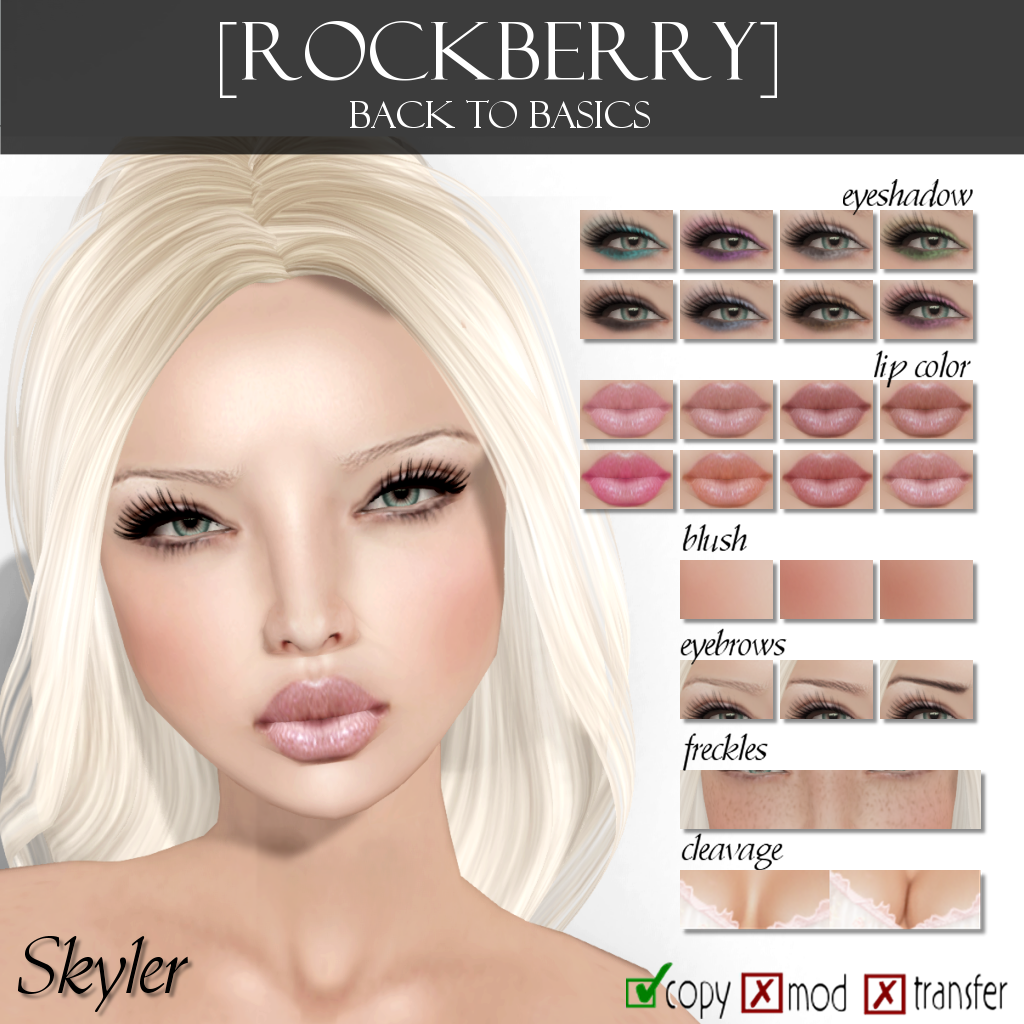 Rockberry High Quality Photorealistic Skins In Second Life